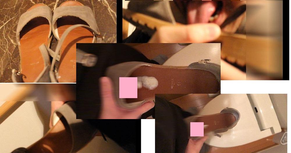 【靴ぶっかけ】生意気なギャルのフラットサンダルを舐めて舐めて犯す
